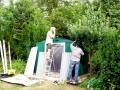 Aufbau einer Hütte